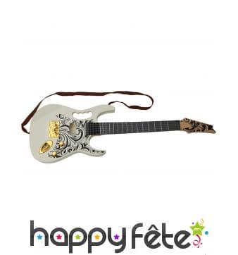 Guitare électrique blanche en plastique de 67 cm