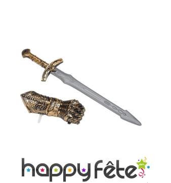 Gant et épée médiévale pour enfant
