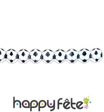 Guirlande en papier ballon foot