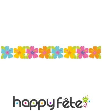 Guirlandes fleurs multicolores en papier 2,2m