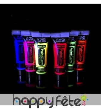 Gel fluo UV pour cheveux