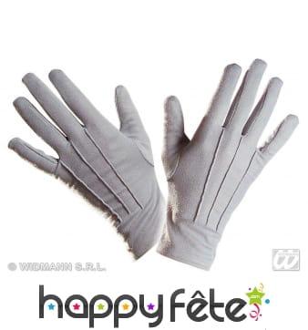 Gants gris en polyester de qualité supérieure