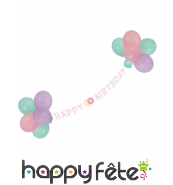 Guirlande Happy Birthday de 1,5m avec ballons