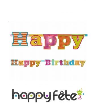 Guirlande Happy Birthday de 166cm