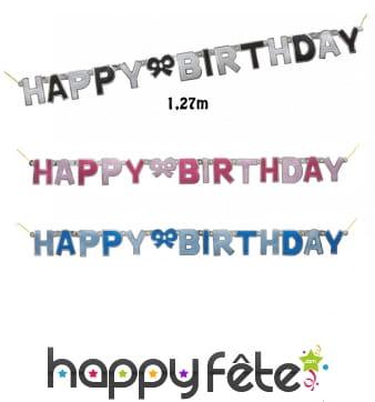 Guirlande Happy birthday en carton de 127cm