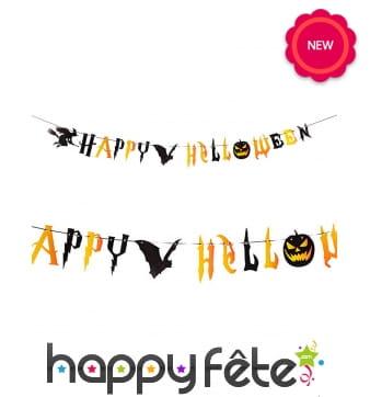 Guirlande Happy Halloween de 2,5m