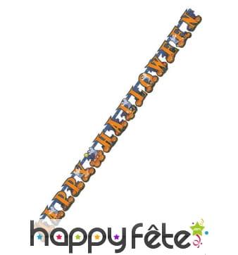 Guirlande Happy Halloween orange de 213cm