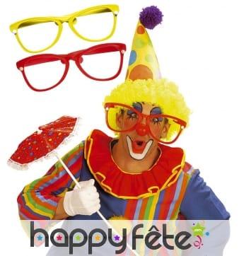Grande lunettes de clown en plastique