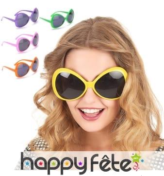 Grandes lunettes papillon disco