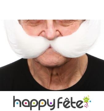Grosses moustaches blanches de rocker