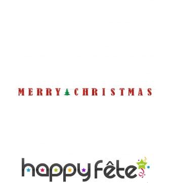 Guirlande Merry Christmas rouge et verte 3,65m