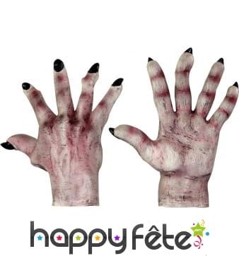 Gants mains de monstre pour adulte