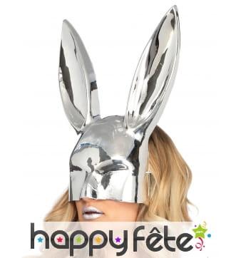 Grand masque de lapin chromé