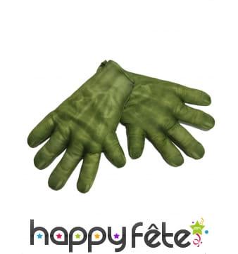 Grandes mains de Hulk pour adulte