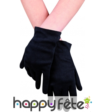 Gants noirs en polyester