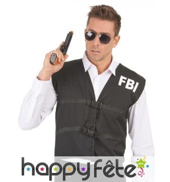 Gilet noir FBI pour homme