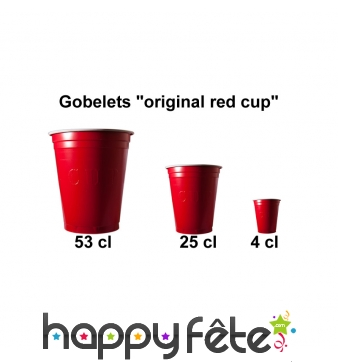 "Gobelets ""original cup"" rouges"