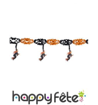Guirlande orange et noire avec sorcières