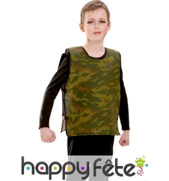 Gilet pare balle camouflage pour enfant