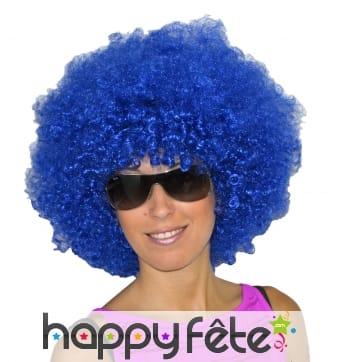 Grosse perruque bleue afro