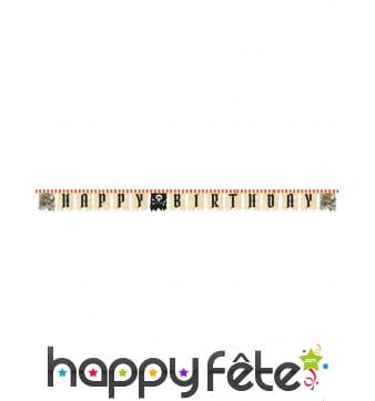 Guirlande Pirate Happy Birthday de 260cm