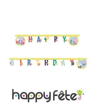 Guirlande Peppa Pig Happy Birthday de 200cm