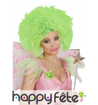 Grosse perruque verte fluo pour adulte