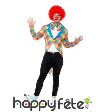 Gilet queue de pie de clown à pois colorés