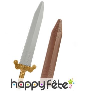 Glaive romain avec fourreau, en plastique