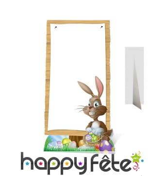 Grand tableau de pâques décoré d'un lapin