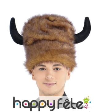 Grande toque Indienne bison marron