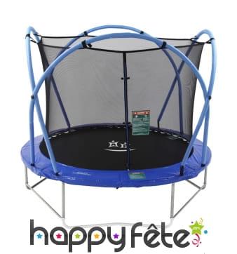 Grand trampoline pliable rond avec clôture