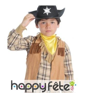 Gilet Western à franges beige et marron enfant