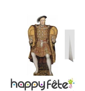 Henry 8 d'Angleterre taille réelle en carton plat