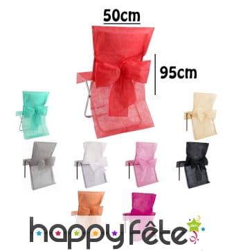 Housses de chaise avec noeud, 50x95cm