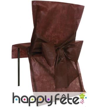 Housses de chaise non tissé noeud chocolat