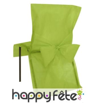 Housses de chaise verte non tissé