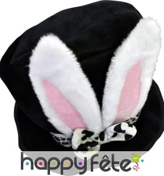 Haut de forme avec oreilles de lapin