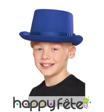 Haut de forme bleu pour enfant