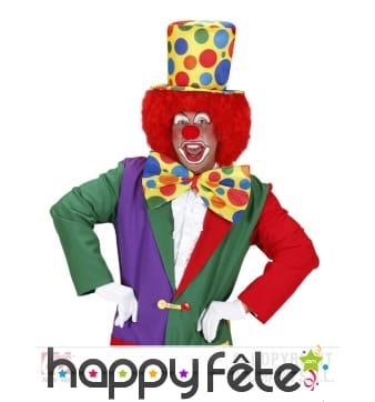 Haut de forme de clown, multicolore