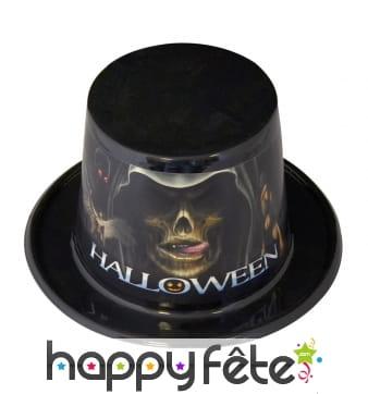 Haut de forme halloween en plastique