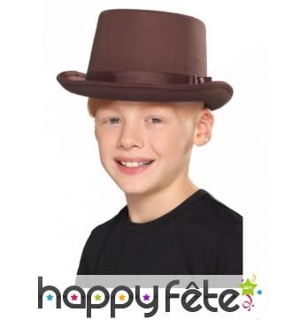 Haut de forme marron pour enfant