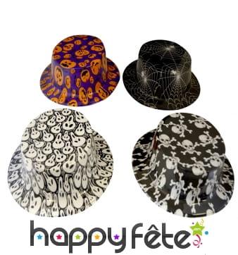 Haut de forme motifs halloween en plastique