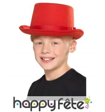 Haut de forme rouge pour enfant