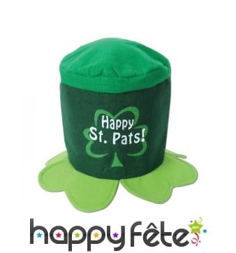 Haut de forme trèfle Happy Saint Patrick