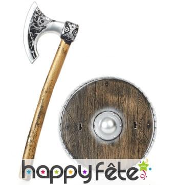 Hache et bouclier de viking pour enfant