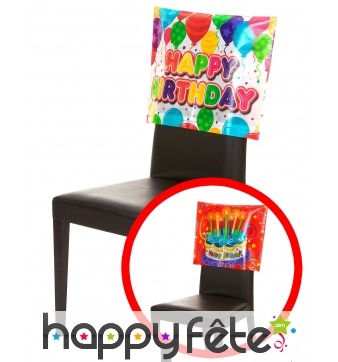 Housse Happy Birthday de chaise, 38 x 48 cm