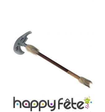 Hache indienne tomahawk aspect bois 45cm