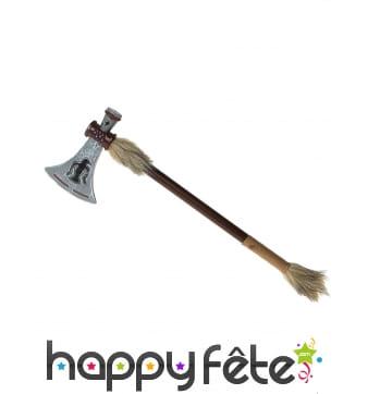 Hache indienne tomahawk aspect bois 47cm