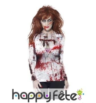 Haut imprimé zombie pour femme